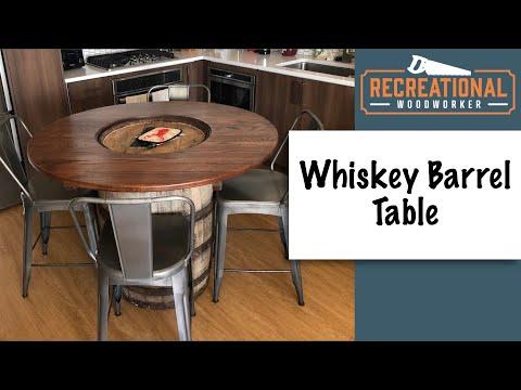 Whiskey Barrel Table Build