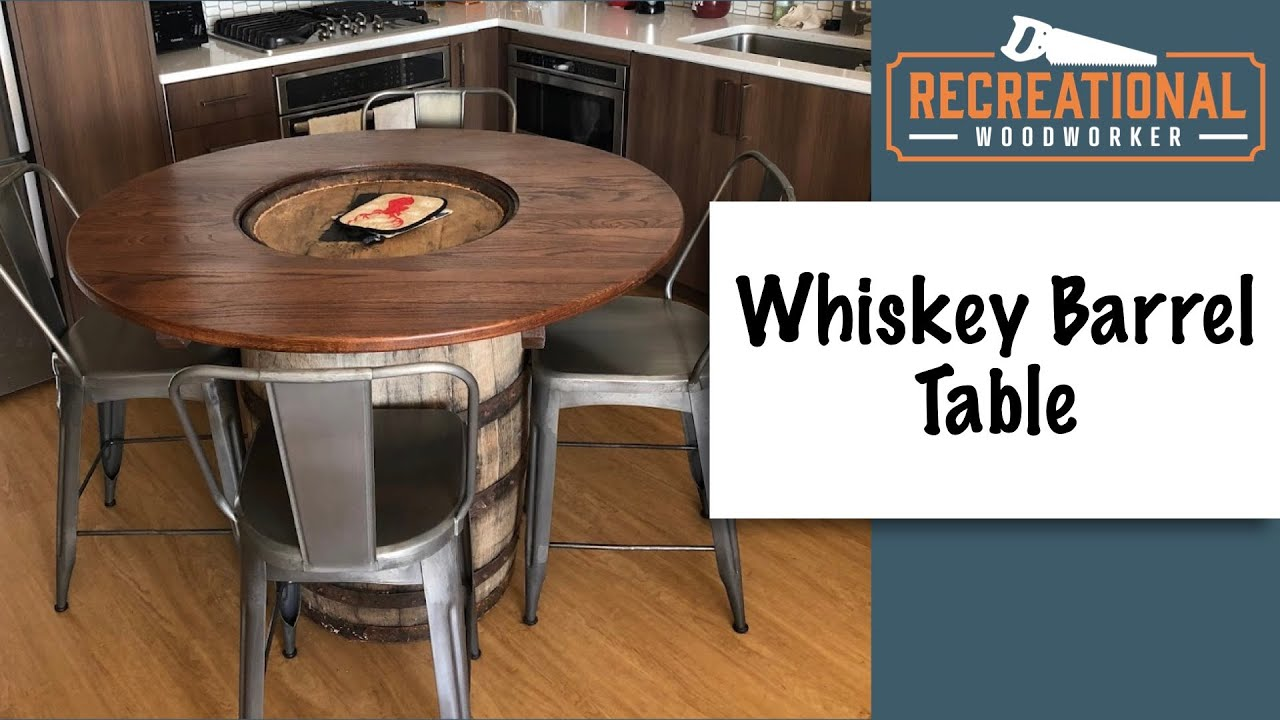 Whiskey Barrel Table Build Youtube