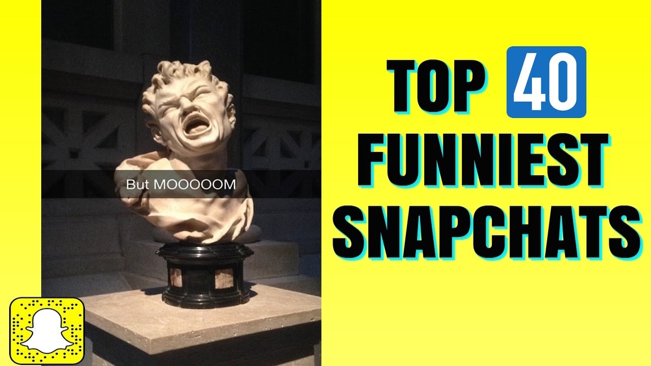 THE TOP 40 FUNNIEST SNAPCHAT PHOTOS EVER!!