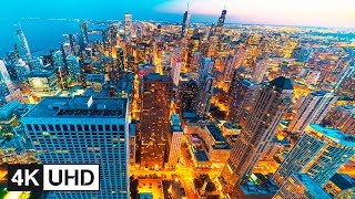 🔥 4K Drone | Chicago Travel Time Lapse: Downtown Skyline, Navy Pier, Chicago River & Harbor | UHD