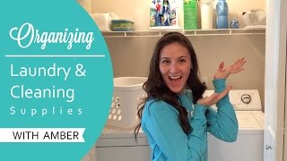 ORGANIZATION | Laundry room & Cleaning Supplies