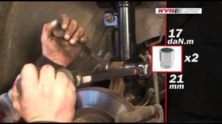 Nissan Qashqai I - FRONT - Передние амортизаторы KYB установка