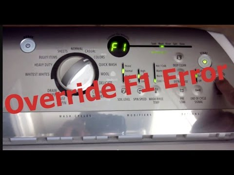 How to Override F1 error to finish wash cycle [Video 1]