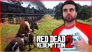 GAMEPLAY RED DEAD REDEMPTION 2 - PARAMOS UN TREN (MODO LIBRE #RDR2)
