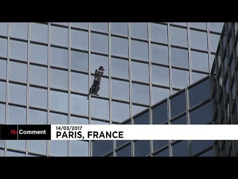 France: Famous climber Alain Rober scales skyscraper in Paris business district
