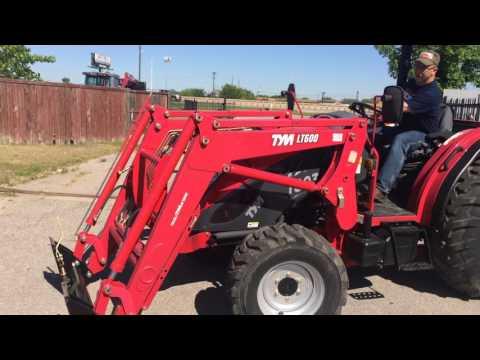 TYM Quick Attach Bucket Hay Spear Demonstration