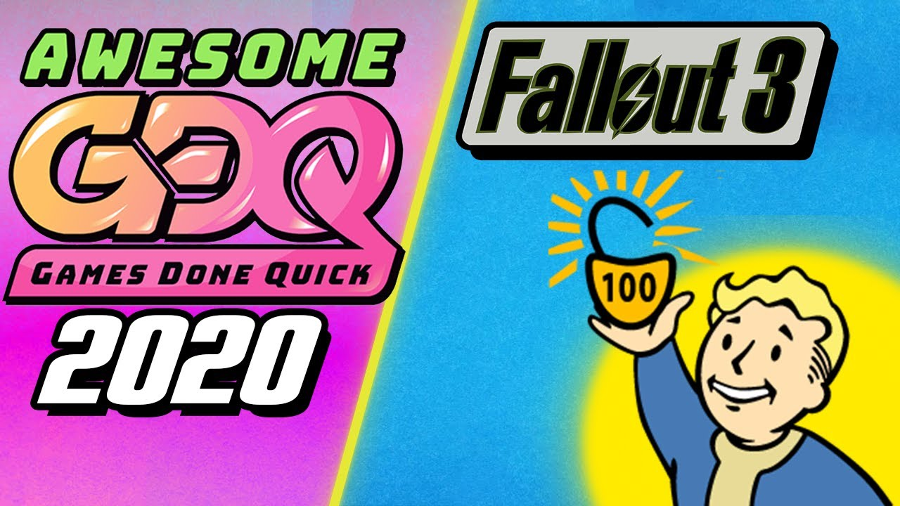 Games Done Quick 2020.Fallout 3 100 Speedrun Agdq 2020 Submission Heavy Commentary