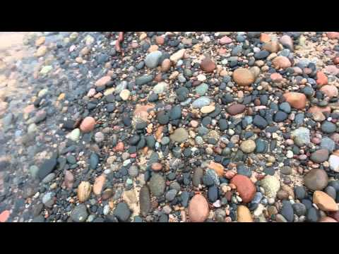 Finding an agate at Muskellunge