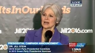 Jill Stein Announces Plan To Be The Green Party Presidential Nominee In 2016