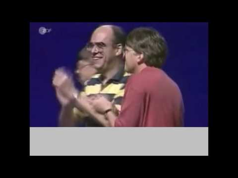 Bill Gates and Steve Ballmer awkward dancing at Windows 95 launch party 60fps