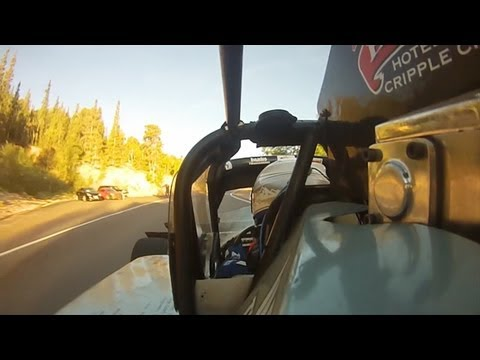 Paul Dallenbach attacks the 2012 Pikes Peak International Hill Climb