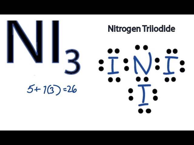 NI3 Lewis Structure: How to Draw the Dot Structure for NI3 ...