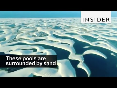 These pools in Brazil are surrounded by sand dunes