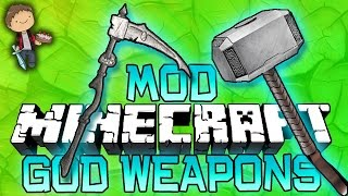Minecraft: GOD WEAPONS MOD! PVP Challenge Modded Mini-Game w/Bajan Canadian and Friends!