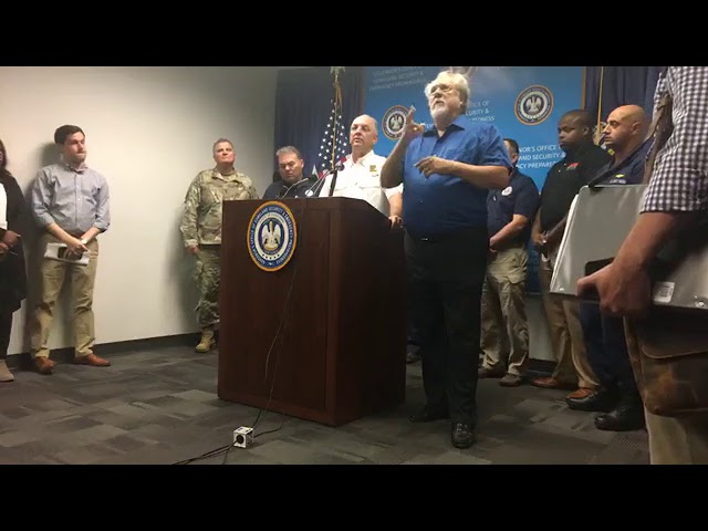 Gov. Edwards gives an update on Tropical Storm Harvey