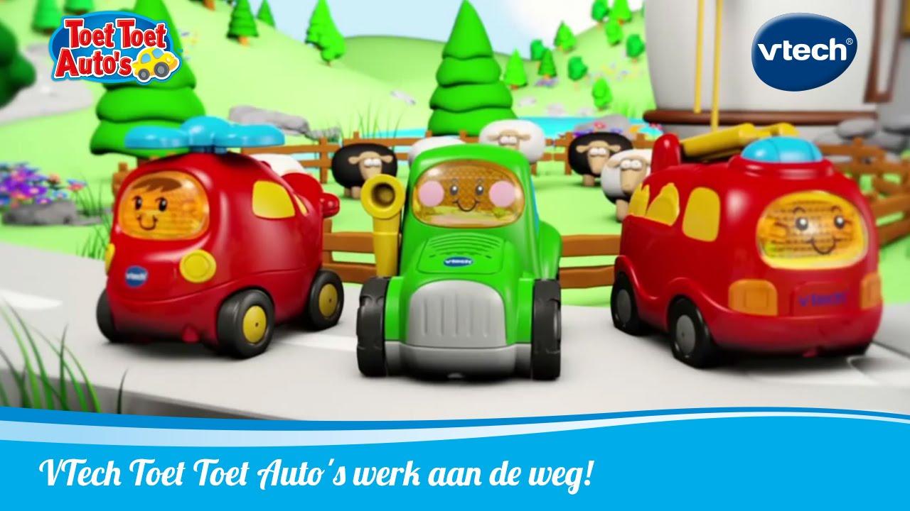 Toet Toet Garage : Toet toet autos werk aan de weg! vtech speelgoed youtube