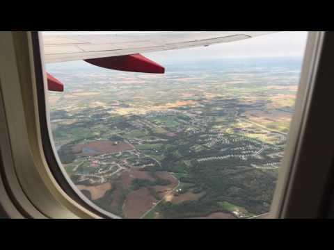 "Full Flight Southwest WN525 MCI to MSP ""Rough Turbulence"""