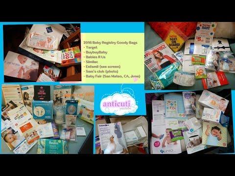2016 Baby Registry Goody Bags - Target, Buybuybaby, BabiesRUs, Similac, Enfamil, Baby Fair