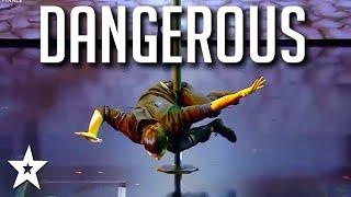 Stuntman Attempts DANGEROUS Drop on Got Talent France 2020 | Got Talent Global