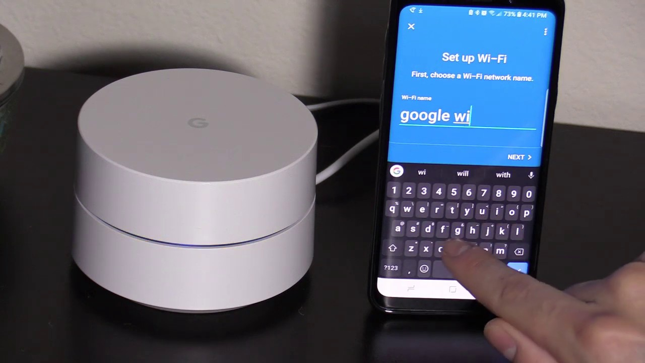 HOW TO CONNECT AND SET UP GOOGLE WiFi WITH APP, INTERNET SPEED RESULTS