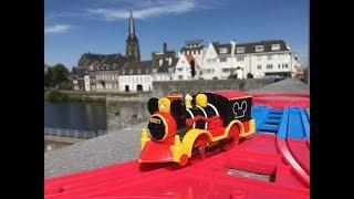 Trem de Brinquedo Mickey Mouse Western Locomotive visit La Meuse, Maastricht, Netherlands 01807 pt