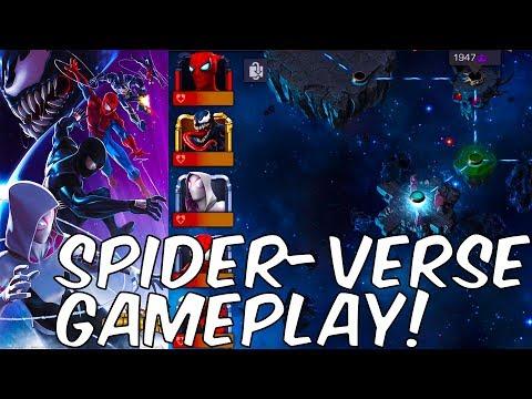 SPIDER-VERSE GAMEPLAY STARK SPIDEY CARNAGE VENOM + MORE - Marvel Contest Of Champions