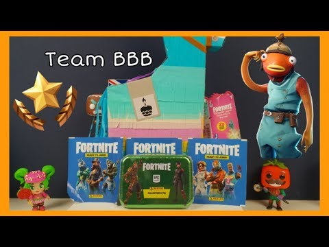 FORTNITE BIRTHDAY LLAMA Trading Cards And Ready To Jump Stickers Loot Pinata Collector Tin Royale