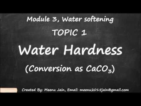 Conversion As CaCO3 || Water Hardness As CaCO3 || Module 3, Topic 1, Water Softening Calculation