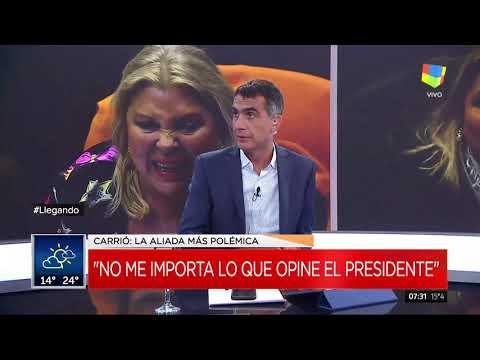 """Lilita Carrió, otra vez contra Cambiemos: """"No me importa lo que opine el Presidente"""""""