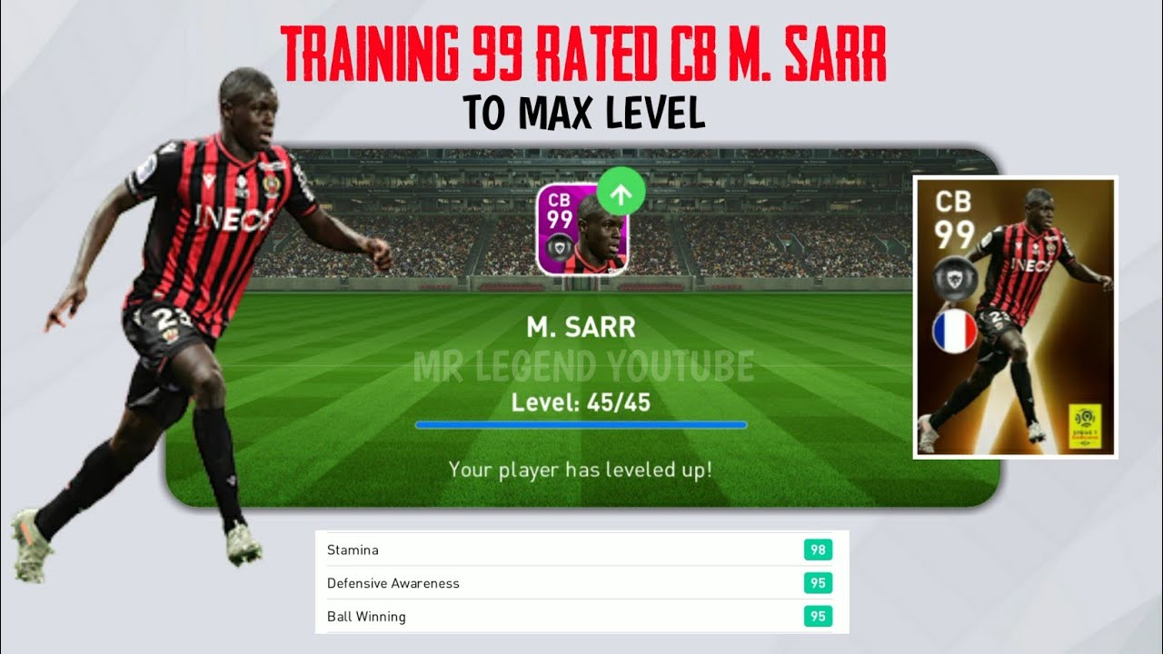 Training 99 Rated Cb M Sarr To Max Level Pes 2020 Mobile Youtube