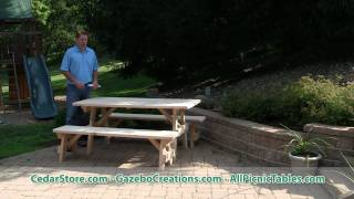 Select Pine Heavy Duty Traditional Picnic Table from CedarStore.com