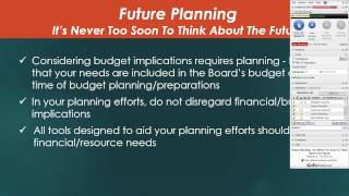 Future Planning: It Is Never Too Soon To Think About The Future! - 1/29/2014