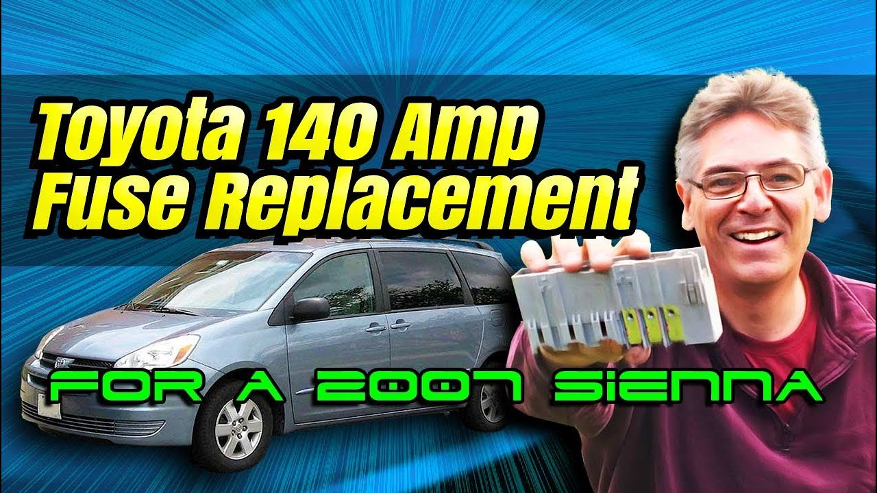 Install New 140 Amp Fusible Link Fuse In A 2007 Toyota Sienna Van Box