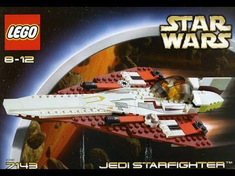 Lego Star Wars Jedi Starfighter 7143 Obi Wan Instructions 2002