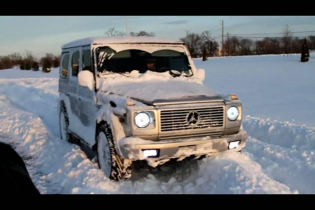 Amg G Wagon >> My snow drift in my buddies' AMG G55 - YouTube