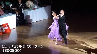 社交ダンス タンゴ 2018日本インター規定フィガー 競技ダンス