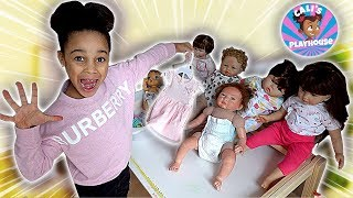 Cali Buys Her Babies New Clothes | Cali's Playhouse