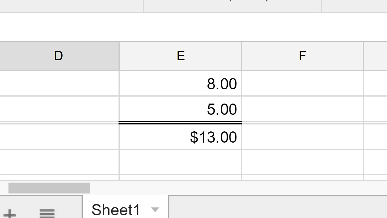 Google Sheets - Create a double underline bottom border