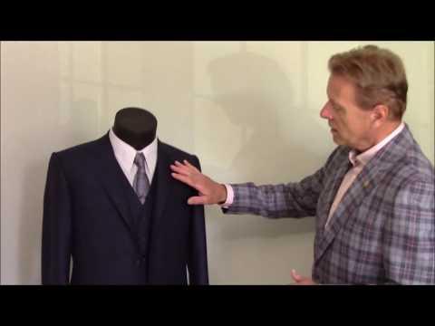 Rudolf Popradi shows how to hand sew collar on Bespoke suit