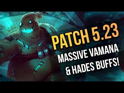 SMITE Patch 5.23 - MASSIVE Hades & Vamana Buffs! - SMITE Patch Notes 5.23 Review