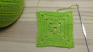 How to crochet a square for beginners Урок вязания крючком КВАДРАТА для начинающих