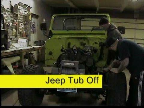 Jeep Cj7 Body Tub Off Frame