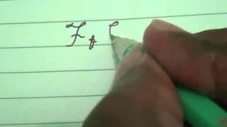 cara menulis tulisan bersambung (f - j)