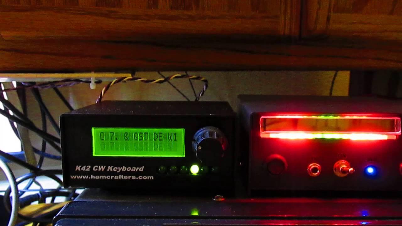 K42 Cw Keyboard Reader And Home Built Led Vu Meter Edward Vignati Pocket