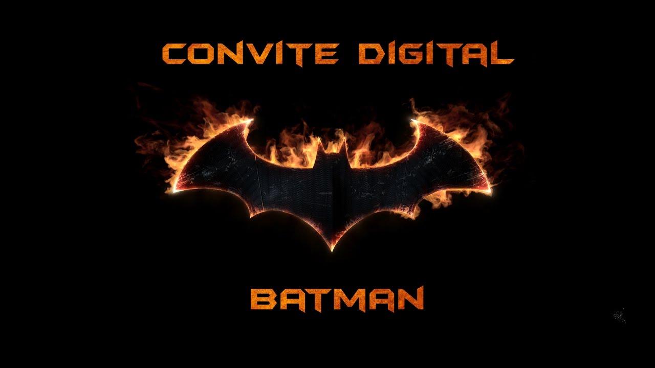 Modelo De Convite Digital Batman Youtube