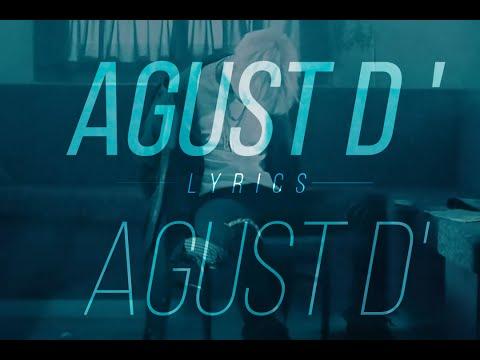 AGUST D' - AGUST D' Lyrics [Eng/Kor]