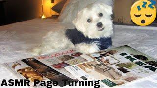ASMR Page Turning Fast and slow - Christmas Fliers And Magazine - Paper Sounds - No Talking