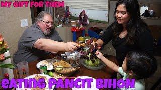 FILIPINA AMERICAN LIFE IN AMERICA VALENTINES DINNER PINOY FOOD PANCIT
