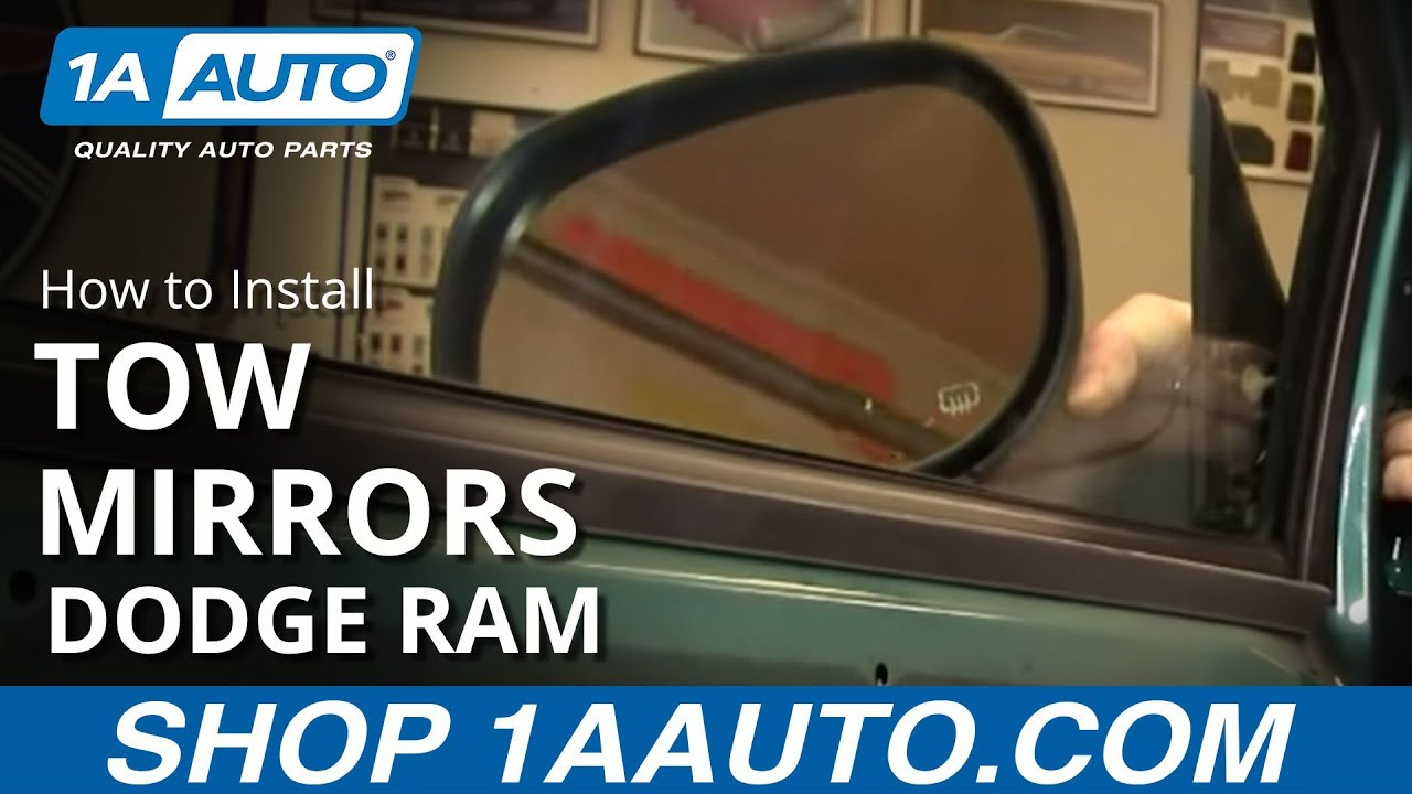 maxresdefault how to upgrade to tow mirrors 97 01 dodge ram part 1 1aauto com  at panicattacktreatment.co
