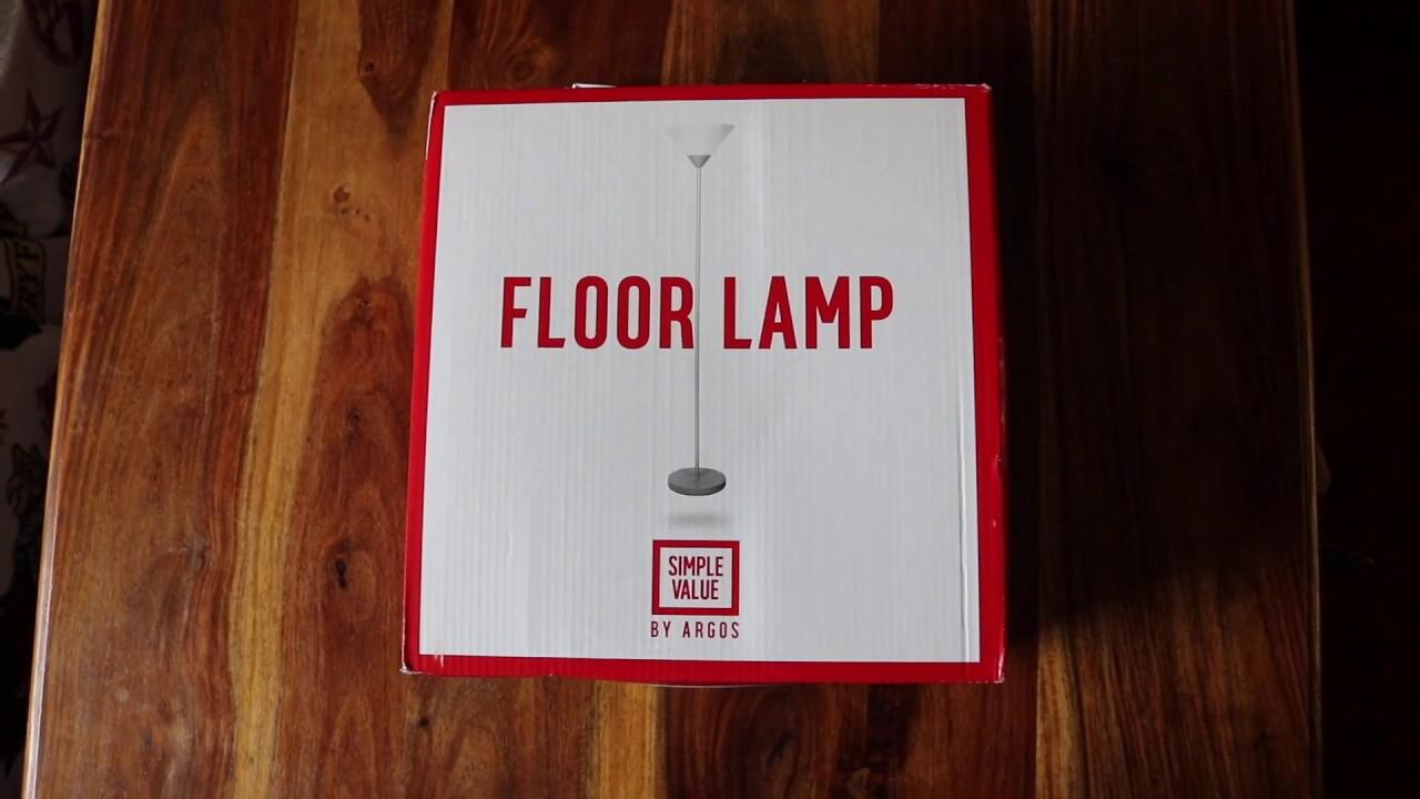 Argos Simple Value Floor Lamp Youtube